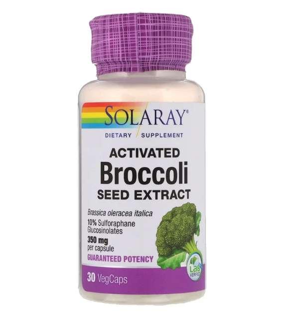 Solaray, 活性化ブロッコリーシードエキス
