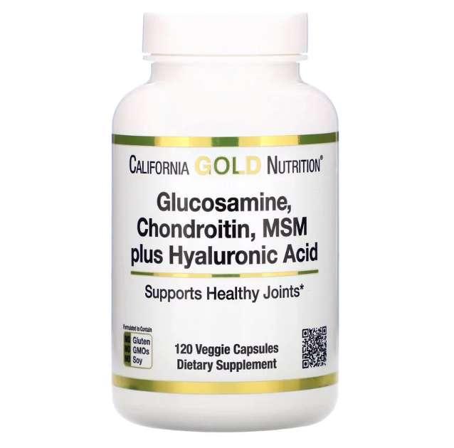 California Gold Nutrition, グルコサミン、コンドロイチン、MSM+ヒアルロン酸