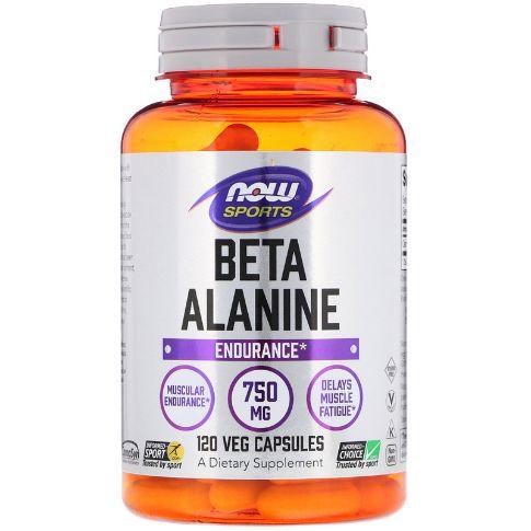 運動に効率よくβアラニンを供給!NOW Foods ベータアラニン750mg