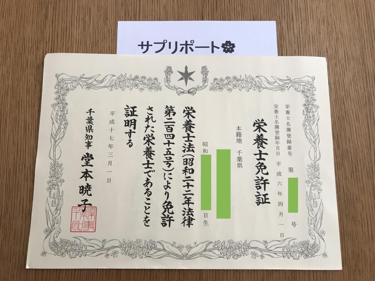 栄養士の資格・免許情報