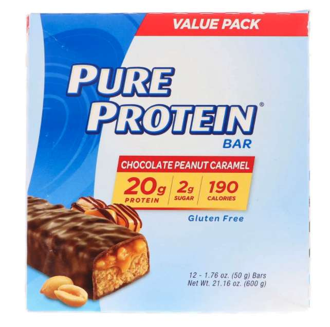 ピュアプロテインチョコレートピーナッツキャラメルバー