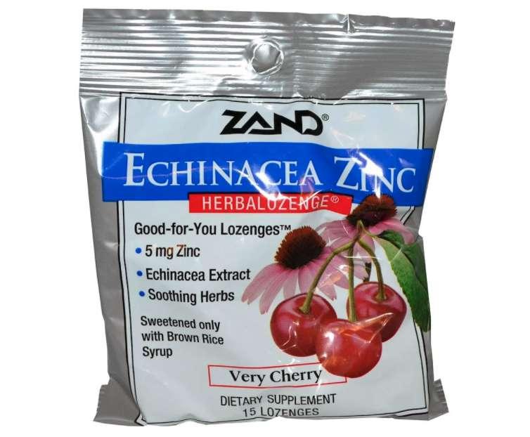 Zand Echinacea Zinc Herbalozenge サクランボ風トローチ 15粒