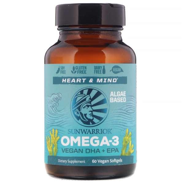 Sunwarrior オメガ3 ビーガンDHA+EPA ビーガンソフトジェル 60粒