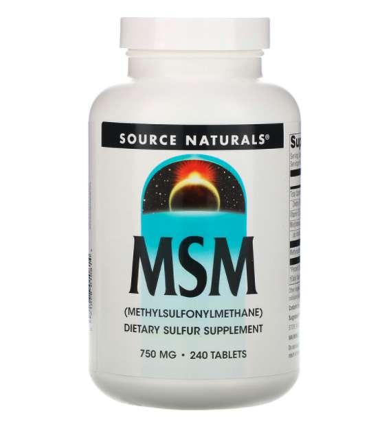 Source Naturals MSM 750mg
