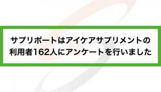 サプリポートはアイケアサプリメントの利用者162人にアンケートを行いました
